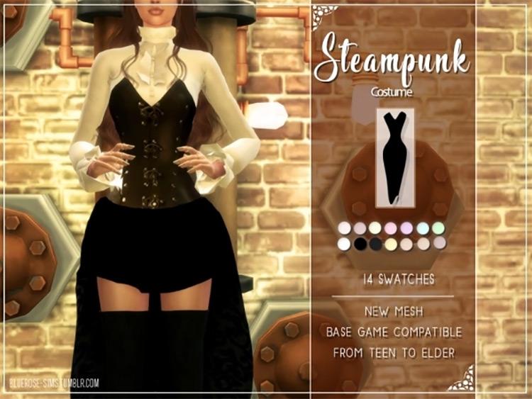 Steampunk Dress Design / TS4 CC