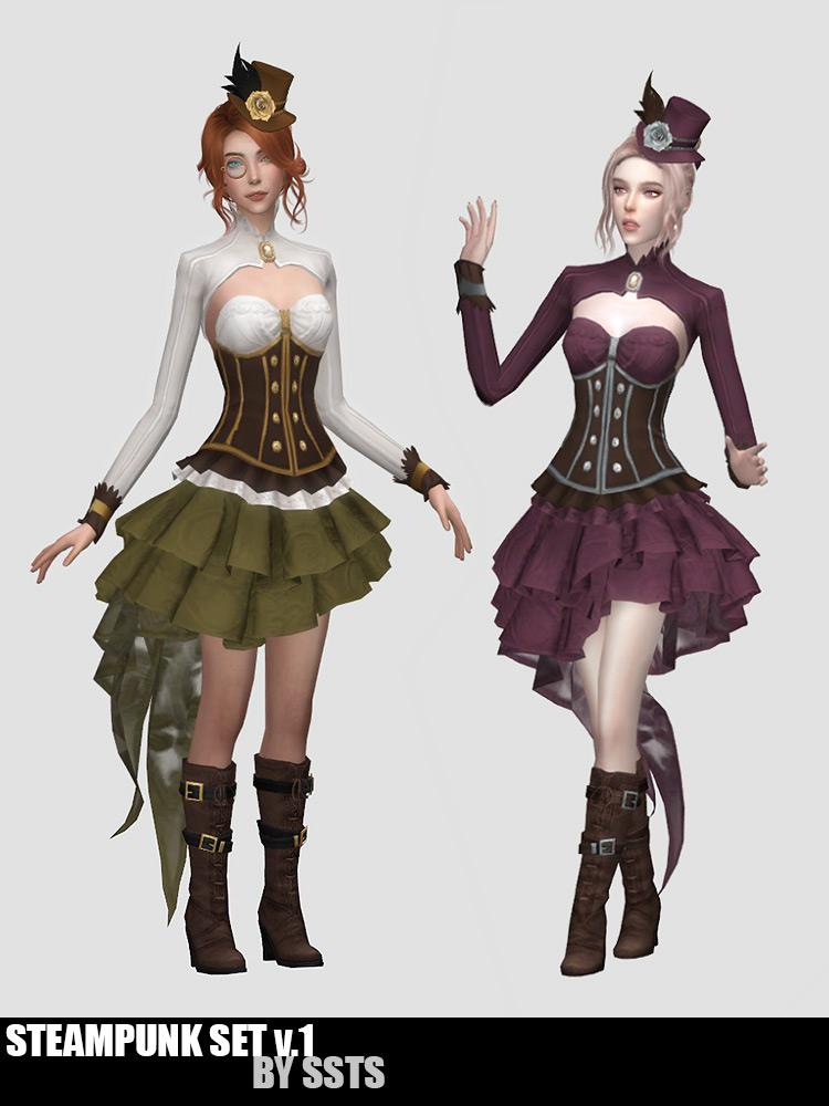 Steampunk CC Set v1 for Sims 4