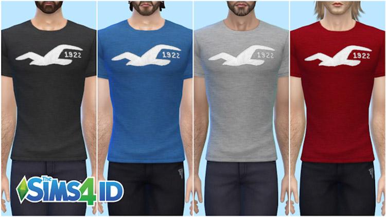 Hollister 1922 Shirts Set / Sims 4 CC