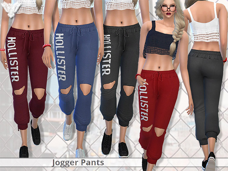 Realistic Jogger Pants by Hollister / Sims 4 CC