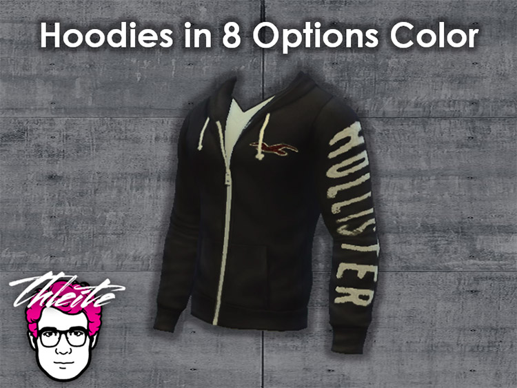 Hollister Hoodies Set for The Sims 4