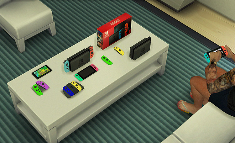 Nintendo Switch CC fo The Sims 4