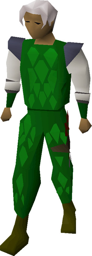 Green Dragonhide Armour Equipped Set in OSRS
