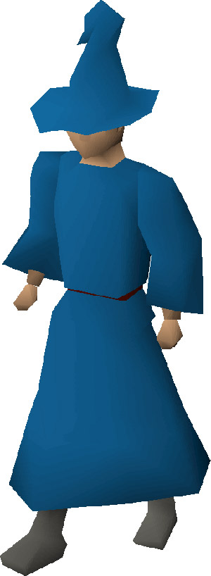 Blue Wizard Robes Set in OSRS