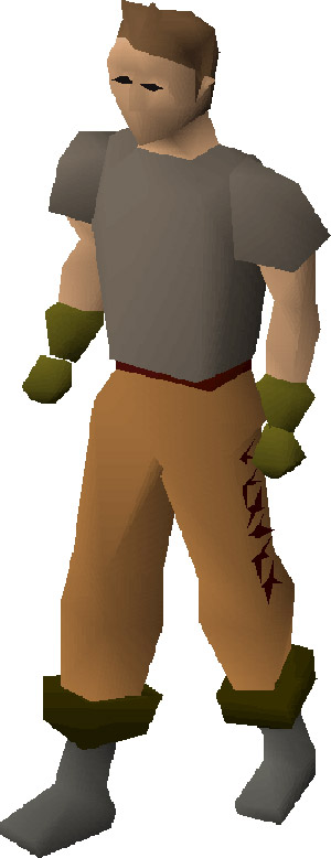 Leather Gloves Worn in OSRS