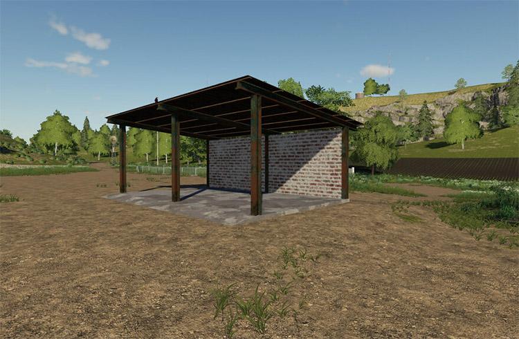 Tiny equipment storage area mod / FS19