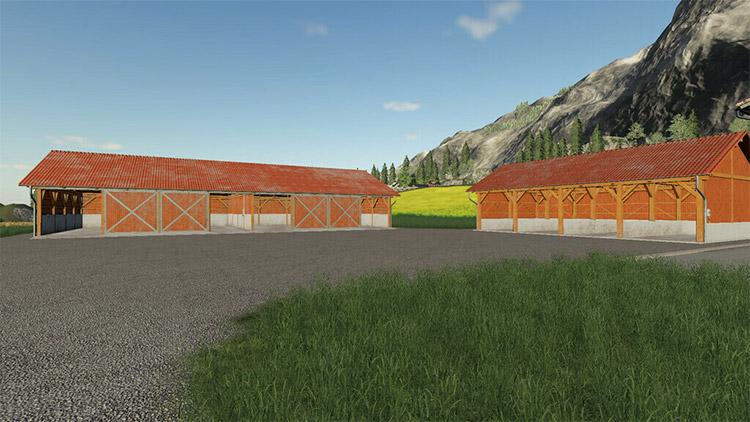Large alpine garage mod for FS19