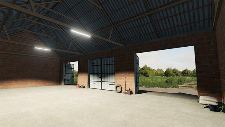 Big garage for machines in FS19