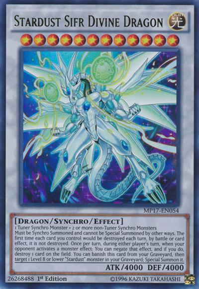 Stardust Sifr Divine Dragon YGO Card