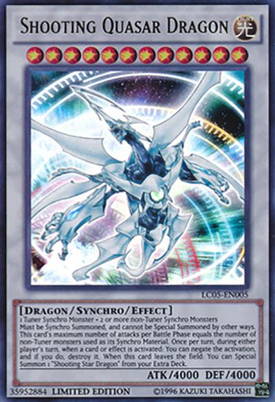 Shooting Quasar Dragon Yu-Gi-Oh Card