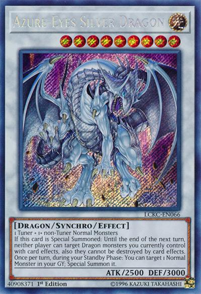 Azure-Eyes Silver Dragon YGO Card