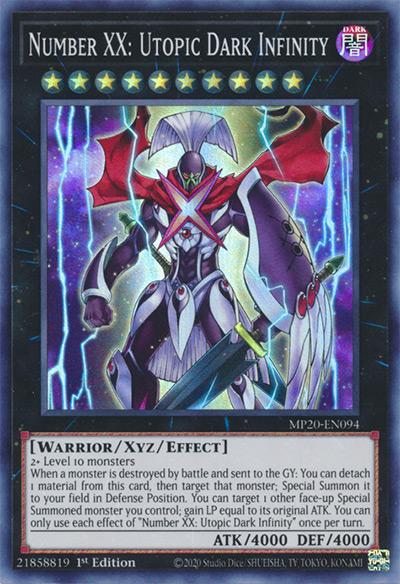 Number XX: Utopic Dark Infinity Yu-Gi-Oh Card