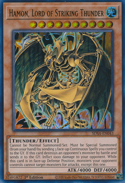 Hamon Lord Of Striking Thunder YGO Card