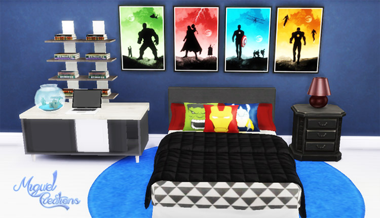 Heroes Posters CC for The Sims 4