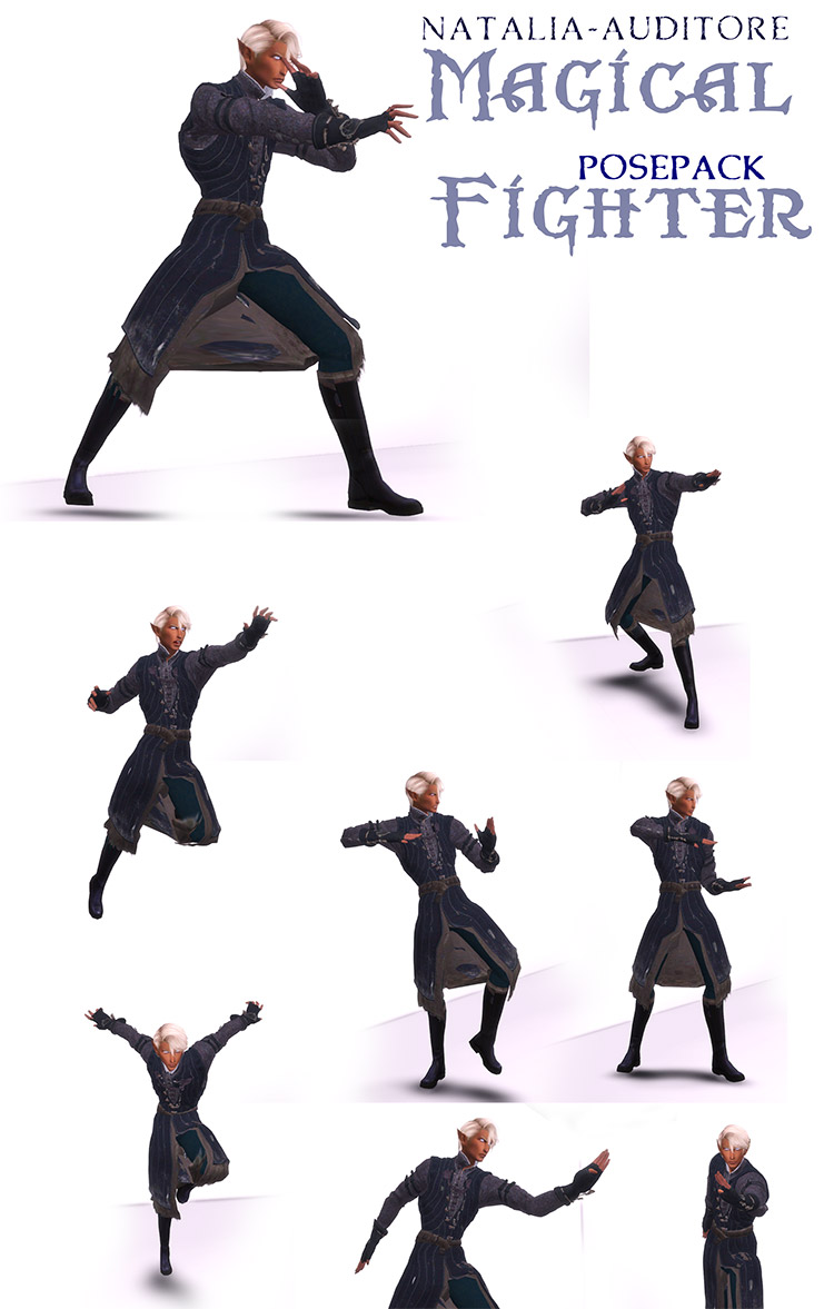 Fighting Poses Set for The Sims 4