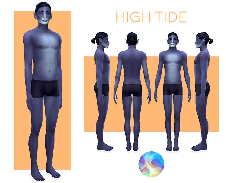 Blue Skintones Superhero Mutant CC / Sims 4