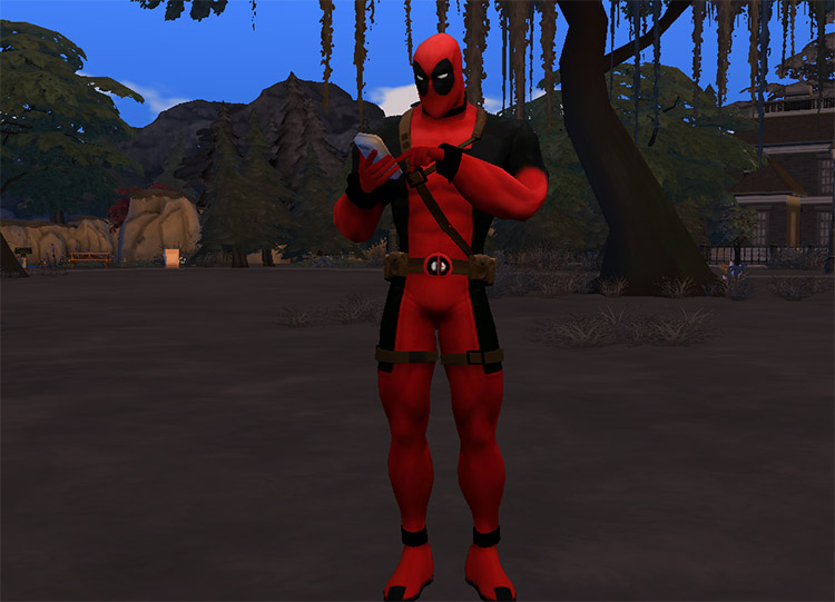 Deadpool Costume Preview for The Sims 4