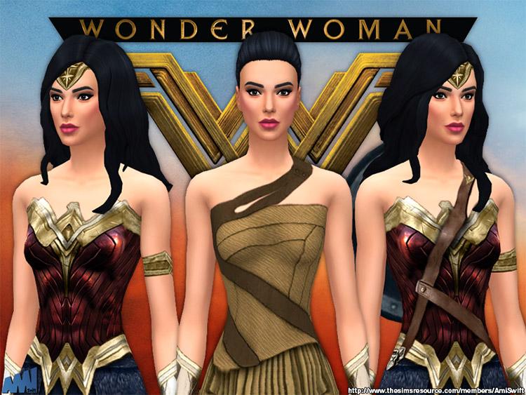 Wonder Woman CC Set / Sims 4