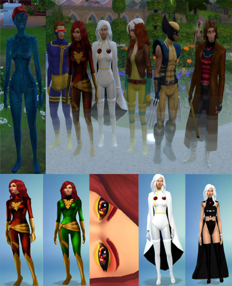 Xmen costumes CC for The Sims 4