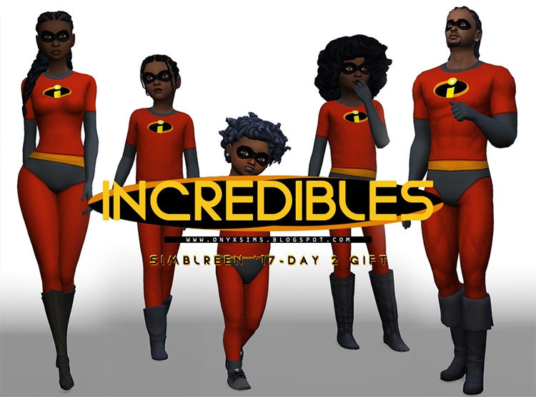 Incredibles Family Costumes for The Sims 4