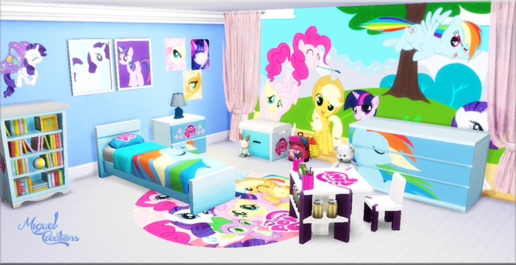 My Little Pony Bedroom CC for The Sims 4