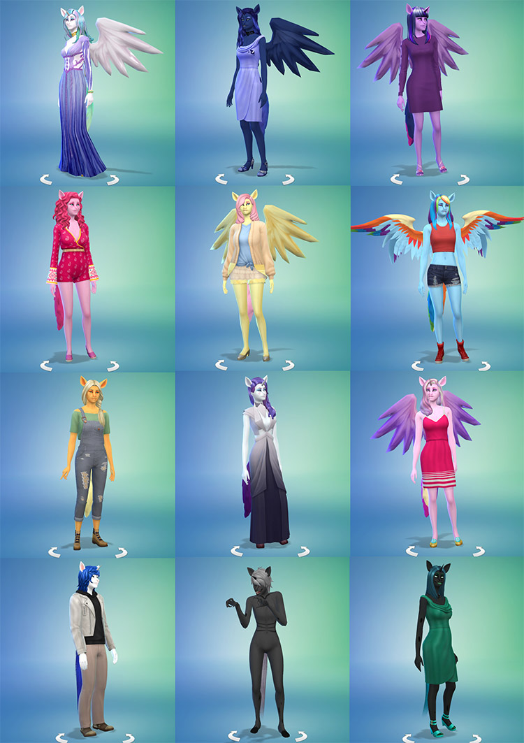 MLP Skin Overlay for The Sims 4