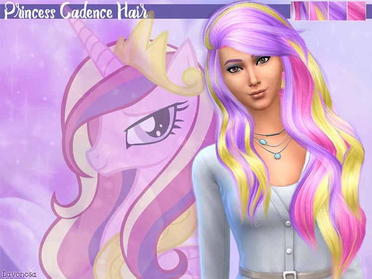 Princess Cadence Hair CC for Sims 4