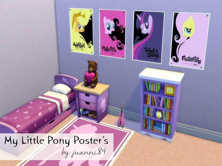 My Little Pony Posters Set / Sims 4 CC