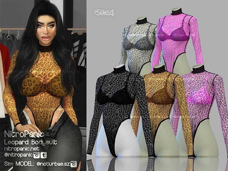 Leopard Bodysuit CC for The Sims 4