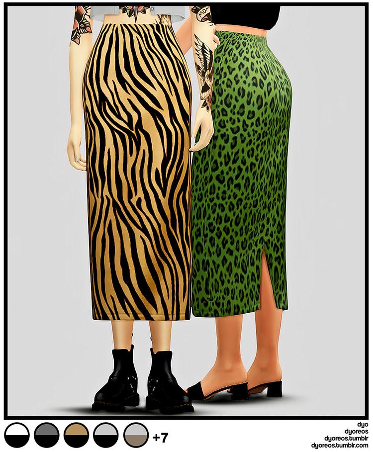 Animal Print Skirts / Sims 4 CC