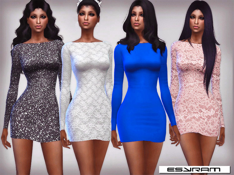 A-Line Mini Dress CC for The Sims 4