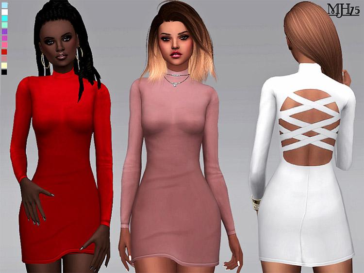 Cutaway Bodycon Dress CC for The Sims 4