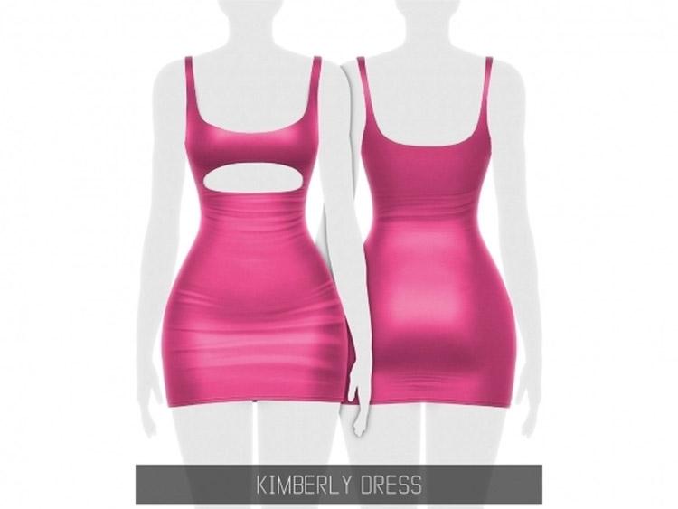 Kimberly Dress Pink Design / Sims 4 CC