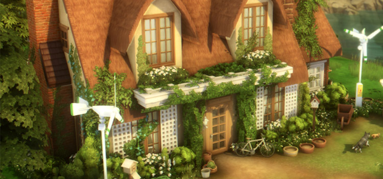 Eco Cottage Build in The Sims 4