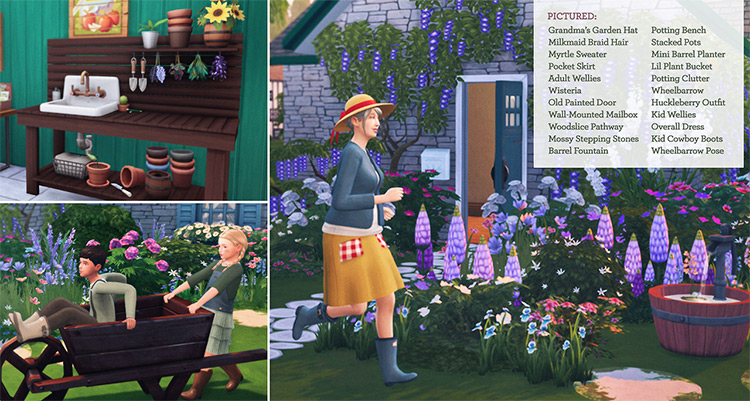 Cottage Garden Stuff for Sims 4