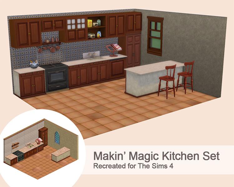 Makin' Magic Kitchen Set / TS4 CC