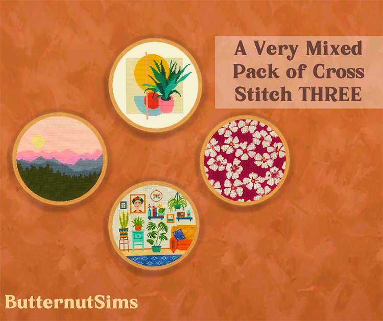 A Very Mixed Pack of Cross Stitch / Sims 4 CC