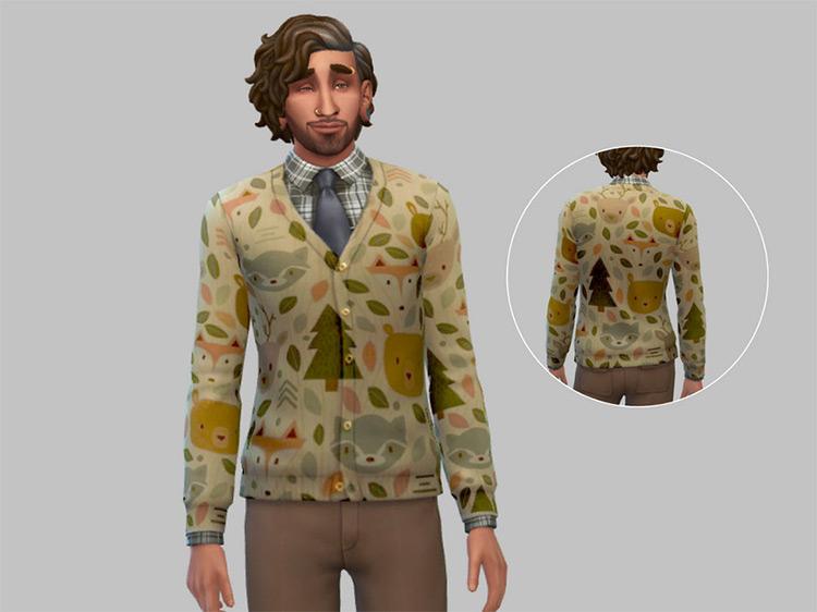 Cottage Core Grandpa Sweater / Sims 4 CC