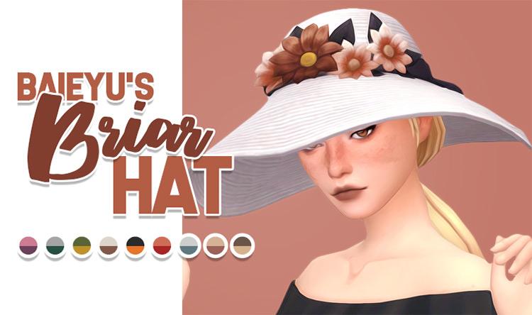 Briar Hat CC for Sims 4