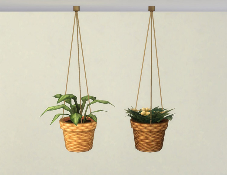 Modular Hanging Plants / Sims 4 CC