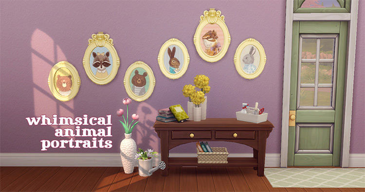Whimsical Animal Portraits / TS4 CC