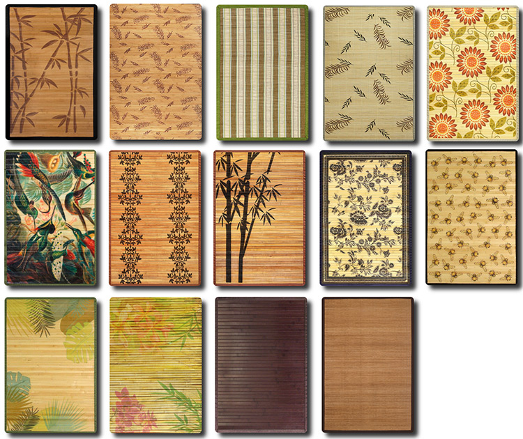Bamboo Rugs CC for Sims 4