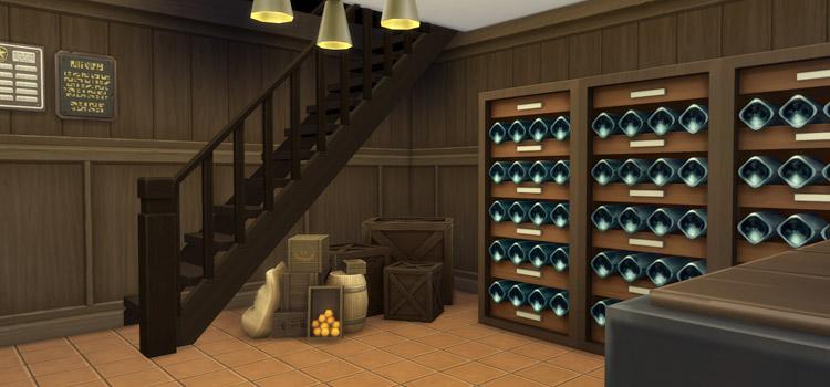 Custom Wine Cellar Storage Room / Sims 4 Mansion Build