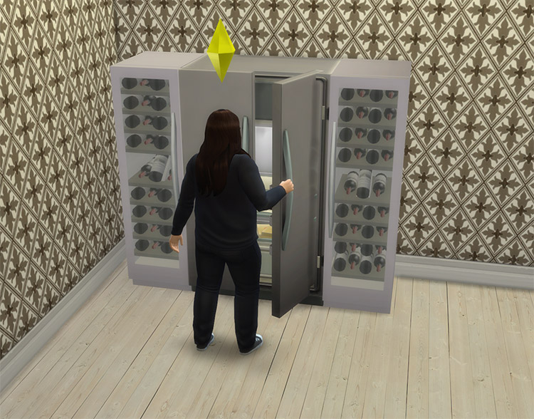 Functional Wine Fridge CC for The Sims 4
