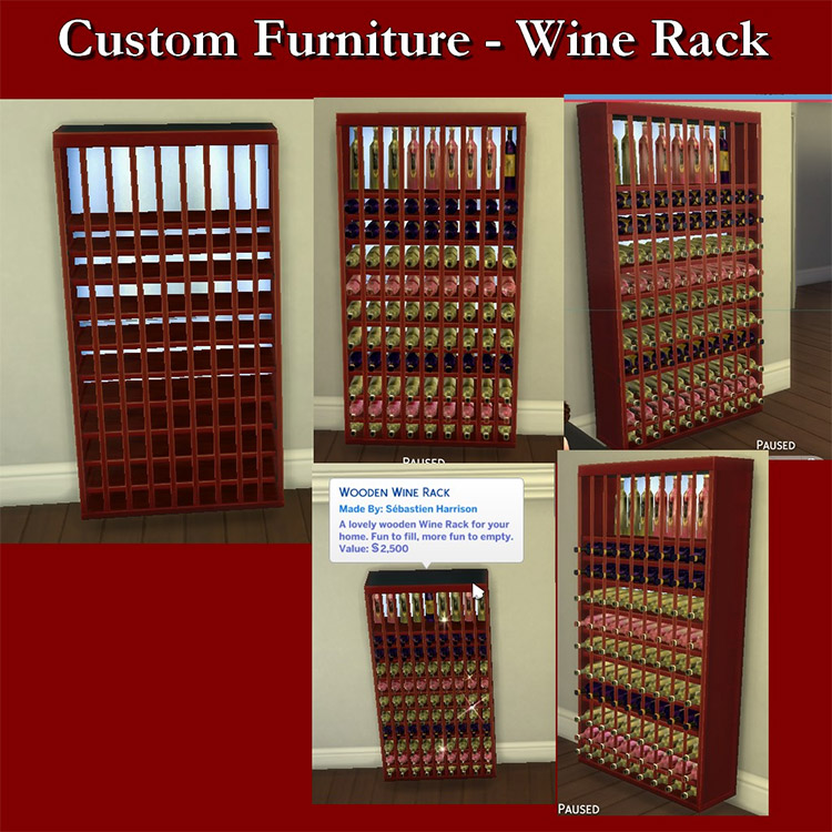 Custom Wine Rack Storage / Sims 4 CC