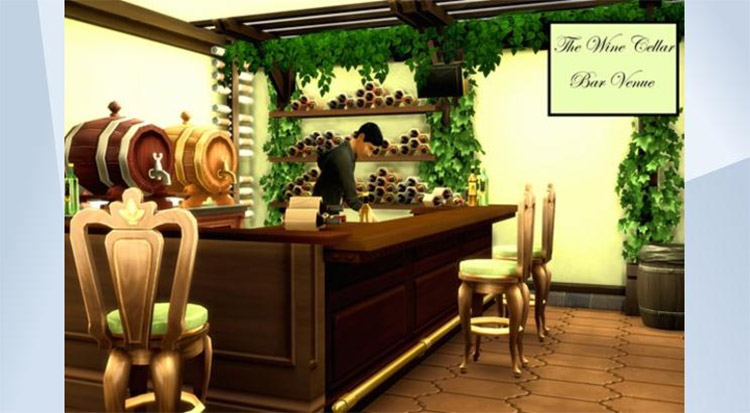 Custom Wine Cellar Build / Sims 4 Preview