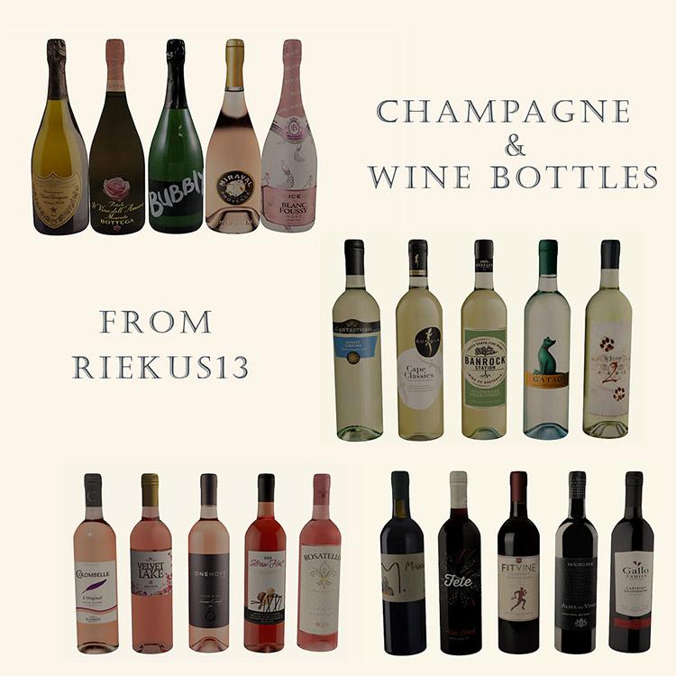 Riekus Wine Bottles in Sims 4