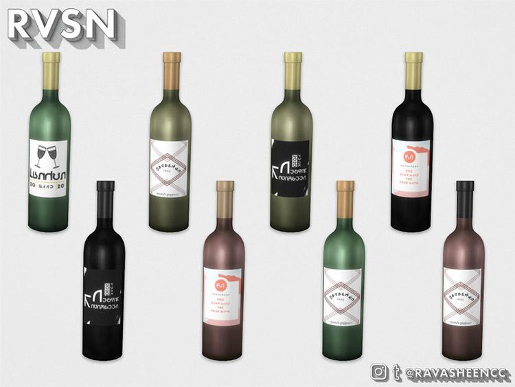 Cloud Nine Brand Wine Bottles CC
