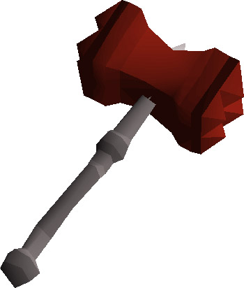 Dragon Warhammer OSRS Render