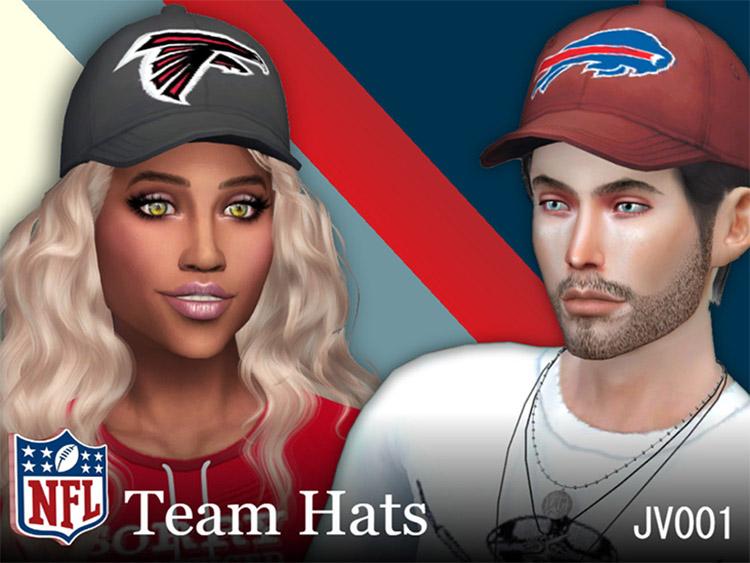 NFL Team Hats CC Set / Sims 4